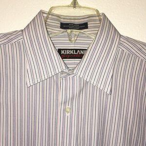 KIRKLAND SIGNATURE LONG SLEEVE DRESS SHIRT